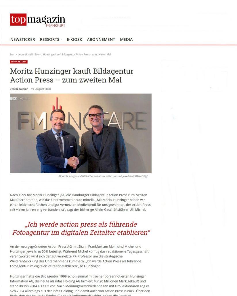 Moritz Hunzinger kauft action press - zum zweiten Mal